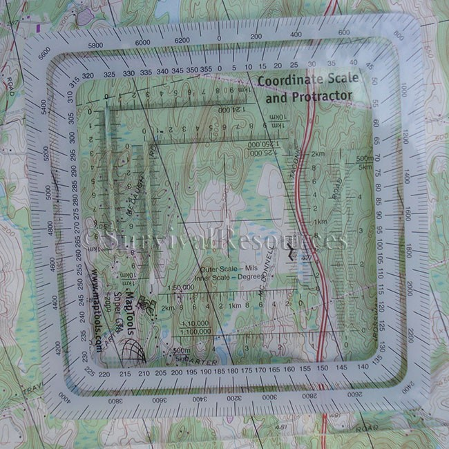 Survival Resources Navigation Military Style MGRSUTM Grid - Mgrs maps for sale