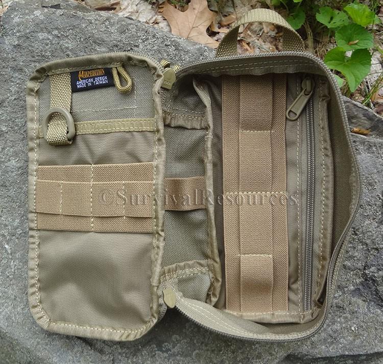 Rucksäcke Maxpedition SKINNY Pocket Organizer Khaki Hüfttaschen