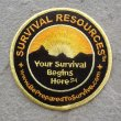 Original Round Survival Resources Patch - 3.5""