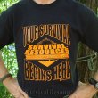 Logo T-Shirt - Your Survival Begins Here - Orange on Black