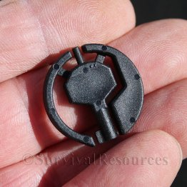 Concealable Backup Handcuff Key