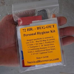 72 Hr. - Bug-Out Personal Hygiene Kit