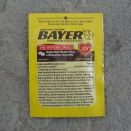Bayer Aspirin - 4 Packets of 2 Tablets