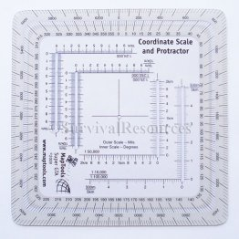 Military Style MGRS/UTM Grid Reader & Protractor (New Style)