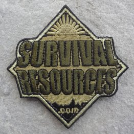 Survival Resources Patch with Velcro - OD Green Subdued