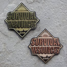Survival Resources Patch with Velcro - Both Subdued