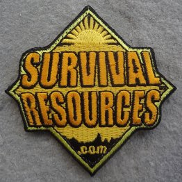 Survival Resources Patch with Velcro - Orange