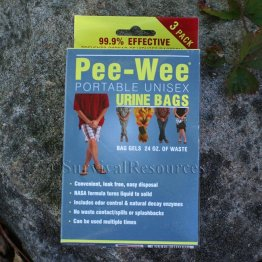 Pee-Wee Portable Urine Bags (3 Pack)