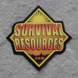 Survival Resources Stickers (4 Pack)