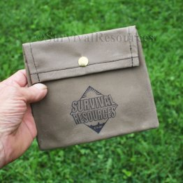 Half Mini Bushcraft Pack Grill Pouch - Waxed Canvas