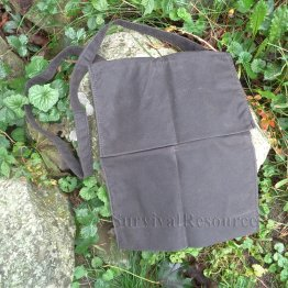 Oilskin Haversack - Top Flap Closed