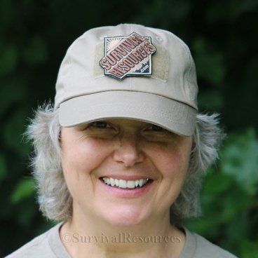 Khaki Baseball Style Cap with Survival Resources Velcro Patch