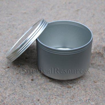 8 oz. - Large Screw Top Tin