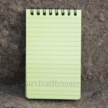 "3"" x 5"" All Weather Notebook - Green"