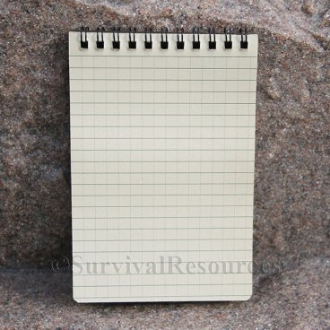 "4"" x 6"" All Weather Notebook - Brown"