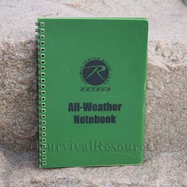 "6"" x 8"" All Weather Notebook - Green"
