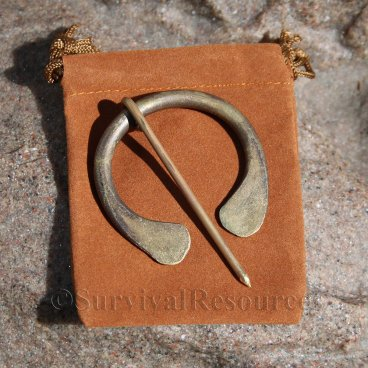 Solid Brass Blanket Pin - 2""