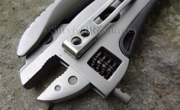 Adjustable wrench end.
