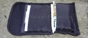 Pouch open showing both pockets.
