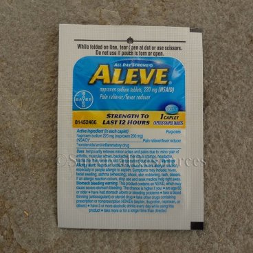 Aleve - 4 Packets of 1 Caplet