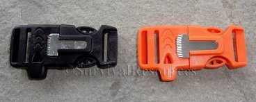Fire Starter Buckle with Whistle - 3/4""