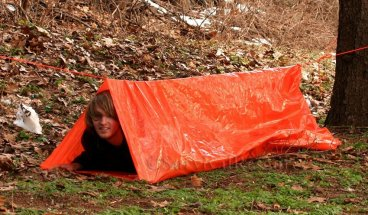 Shown being used as a tube tent.