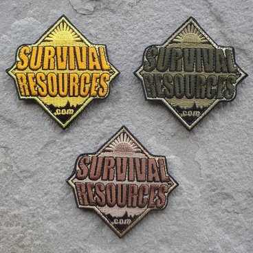 Survival Resources Patch with Velcro - All Three