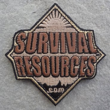 Survival Resources Patch with Velcro - Coyote Brown Subdued