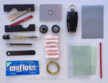 Components included in pouch.