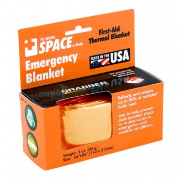 Space Emergency Blanket -Orange/Silver
