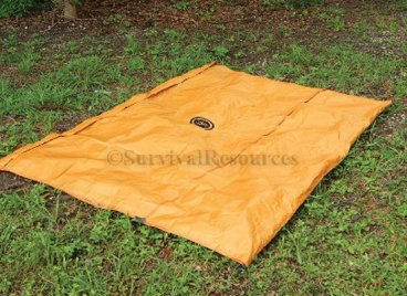 This shows the tarp un-zipped laying flat.