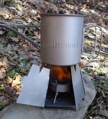 Even use with an alcohol stove!