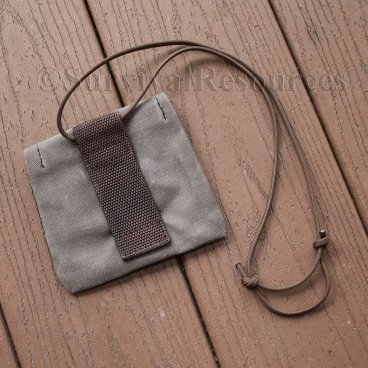 Back of EDC-Puck-Compass Pouch