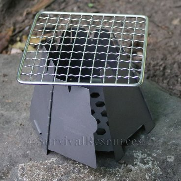 Half-Mini Bushcraft Pack Grill