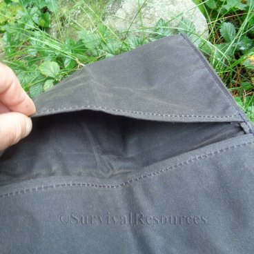 Handy pocket inside top flap.