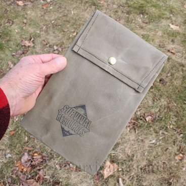 Mini Bushcraft Pack Grill Pouch - Waxed Canvas